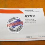 Suzuki AY50 Ersatzteile-Liste 1999