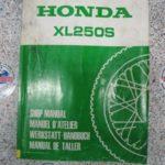 XL250S Original Werkstatt-Handbuch