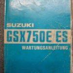 GSX750 E/ES GR72A Original Werkstatt-Handbuch